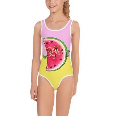 Fun In The Sun Yellow Watermelon  Swimsuit