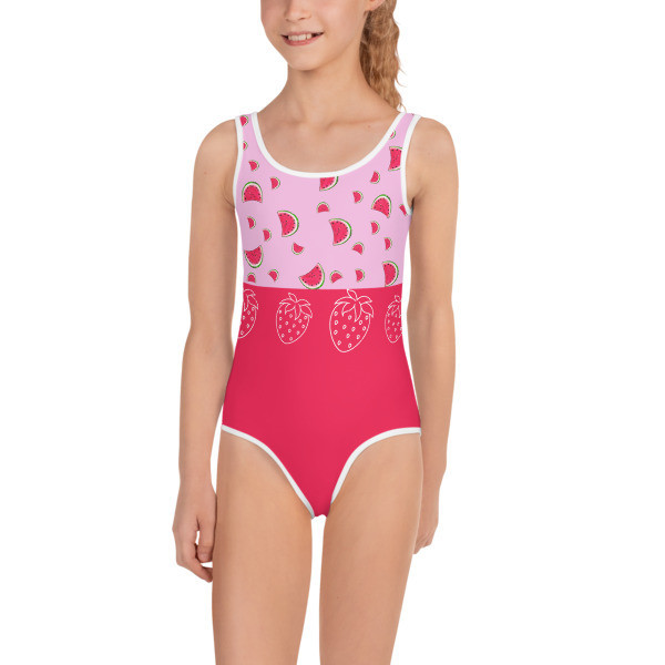 Strawberry Watermelon Girls Swimsuit