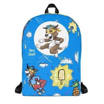 Mango's Superhero Chef Mania (Blue) Backpack