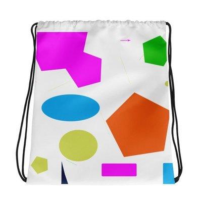 Beth's Crazy Cool Colors Drawstring bag
