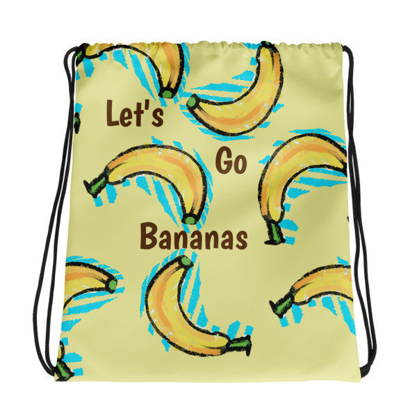 Let's Go Bananas Drawstring Bag