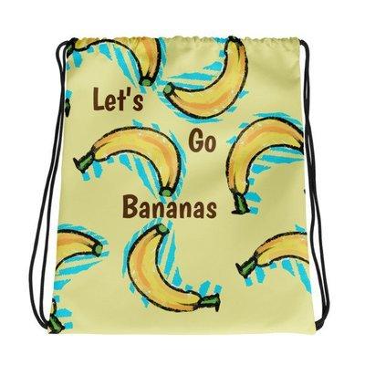 Let's Go Bananas Drawstring Bag