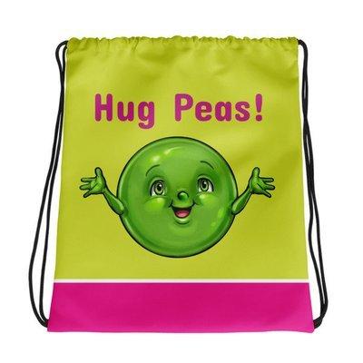 Hug Peas Drawstring bag