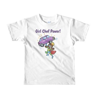 Girl Chef Power Short Sleeve kids t-shirt