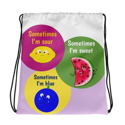 Fruity Emotions Drawstring bag