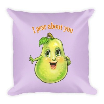 I Pear About You Pillow