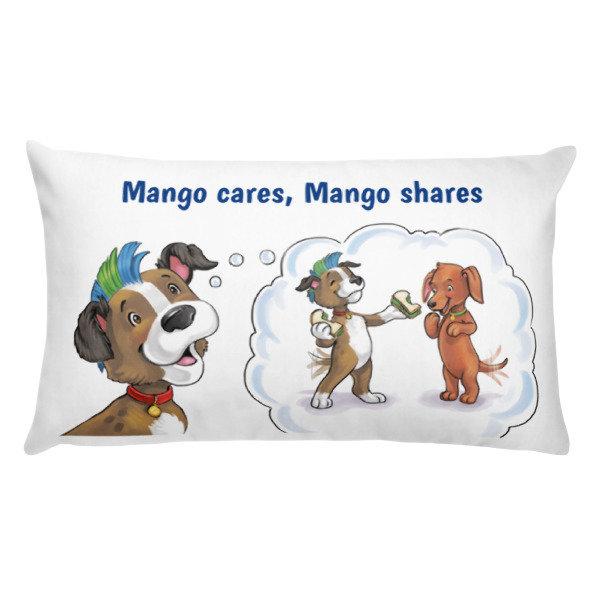 Mango Cares Mango Shares Pillow