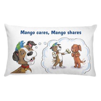 Mango Cares Mango Shares Pillow