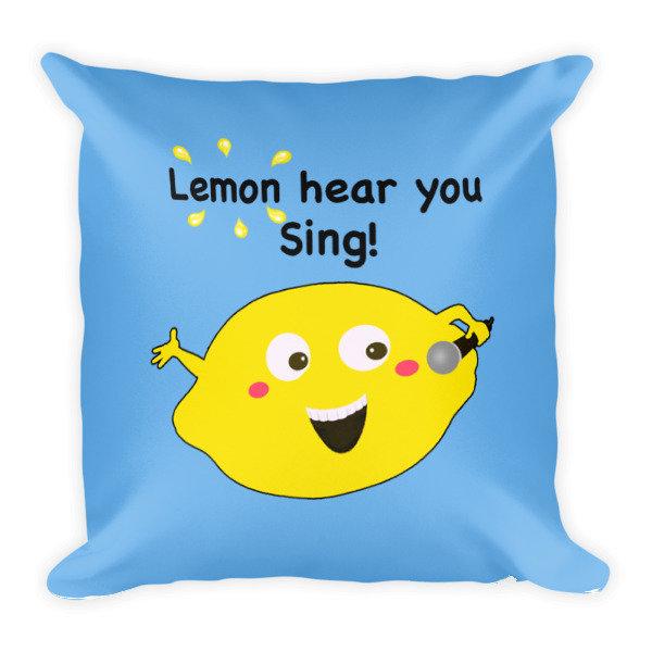 Lemon Hear You Sing Blue Pillow