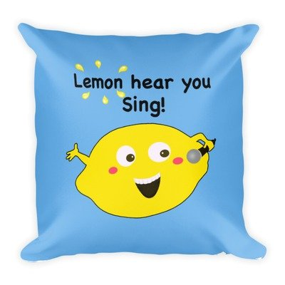 Lemon Hear You Sing Blue Pillow