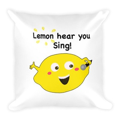 Lemon Hear You Sing Pillow