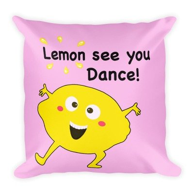 Lemon See You Dance Pillow