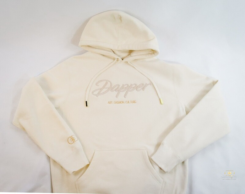 """""""Content & Character"""" Hoodie in Buttercream/Champagne"""""""