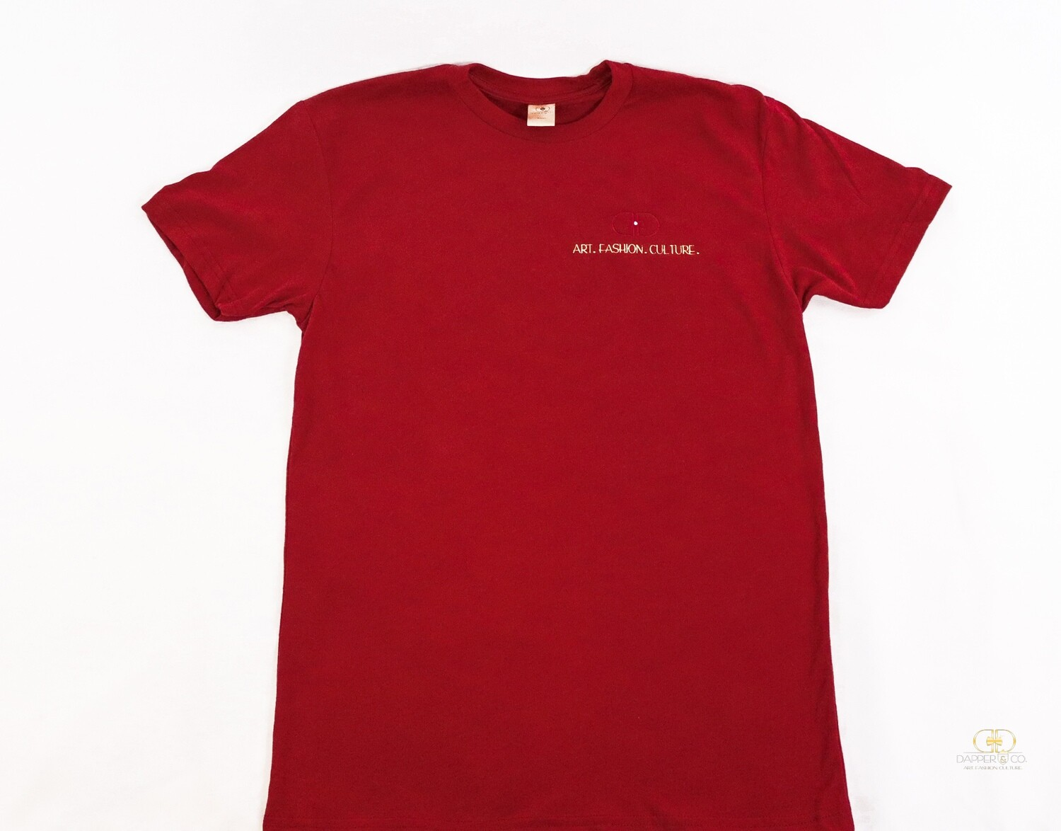 """The """"Stamp"""" Tee in Cranberry"""