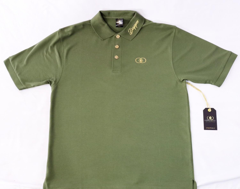 """""""Prestige"""" Pique Polo  (Military/Gold)"""
