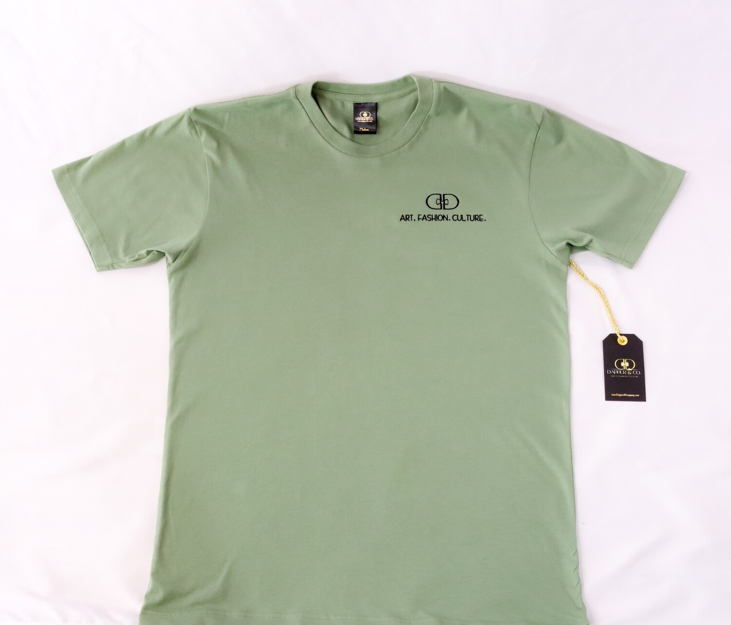 """The """"Stamp"""" Tee in Artichoke"""