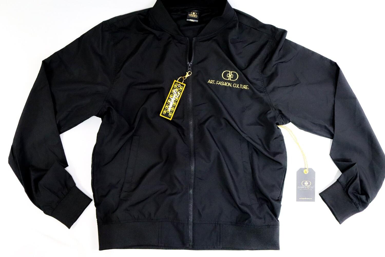 "The ""DA-17"" Bomber Jacket (Black/Gold)"