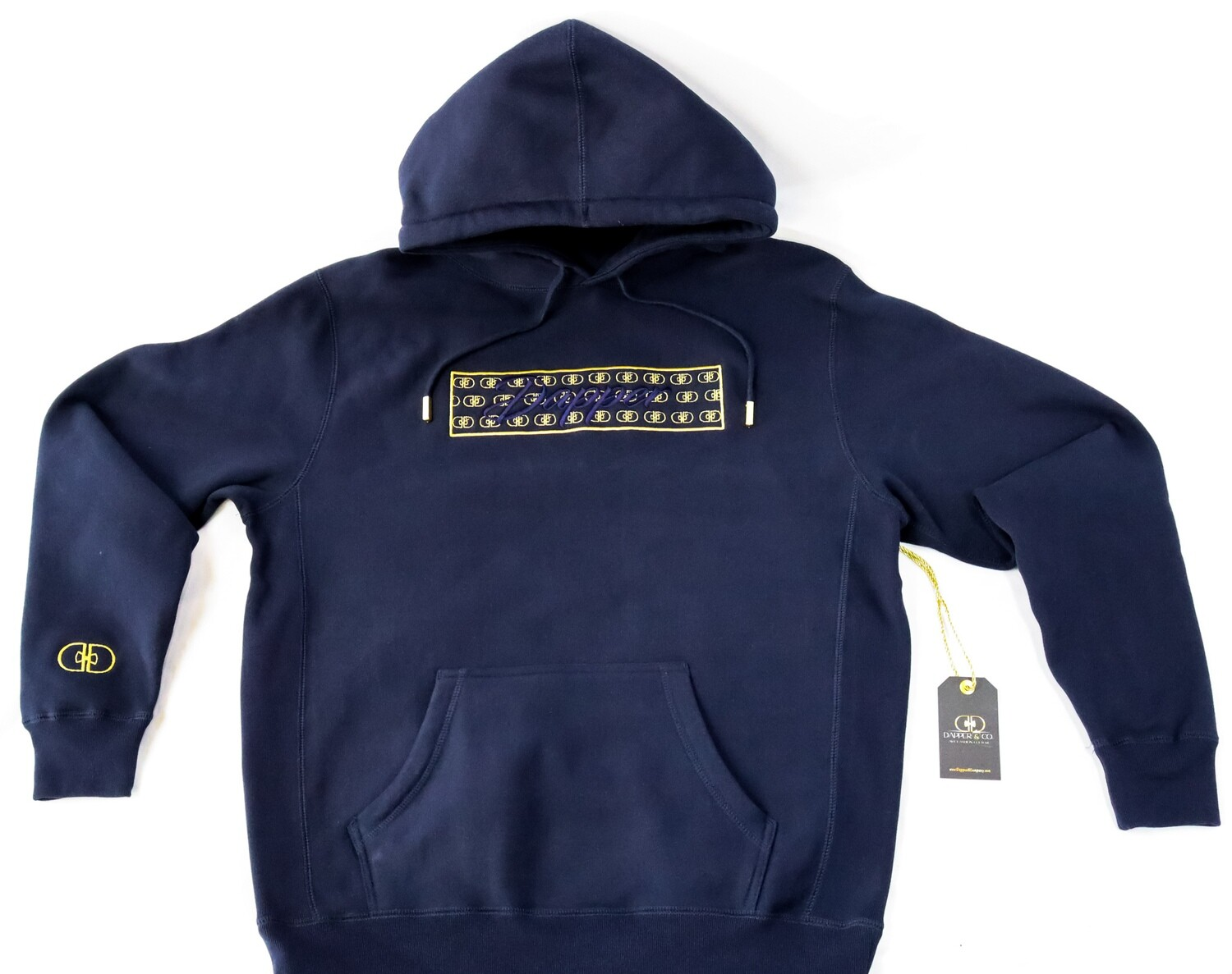 """The """"Illusion"""" Hoodie (Navy/Gold)"""