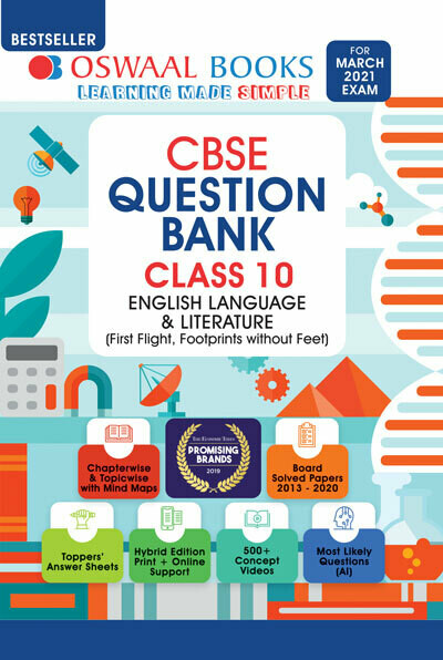 Oswaal CBSE Question Bank Class 10 English Language & Literature Book Chapterwise & Topicwise Includes Objective Types & MCQ's (For 2021 Exam)