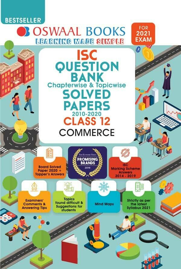 Oswaal ISC Question Bank Class 12 Commerce Book Chapterwise & Topicwise (For 2021 Exam)