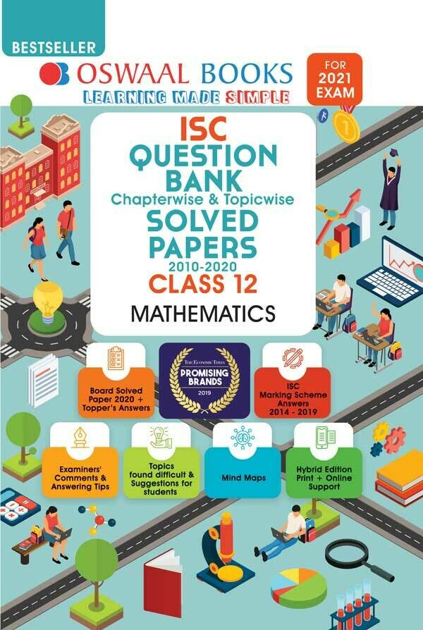 Oswaal ISC Question Bank Class 12 Mathematics Book Chapterwise & Topicwise (For 2021 Exam)