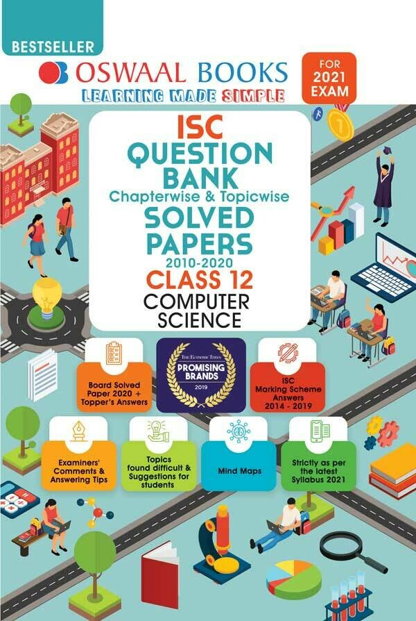 Oswaal ISC Question Bank Class 12 Computer Science Book Chapterwise & Topicwise (For 2021 Exam)