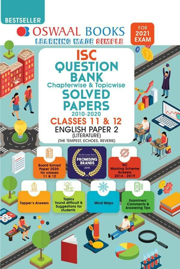 Oswaal ISC Question Bank Class 12 English Paper-2 Literature Book Chapterwise & Topicwise (For 2021 Exam)