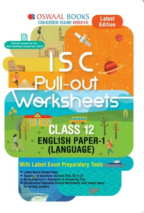 Oswaal ISC Pullout Worksheet Class 11 + 12 English Paper- 1 Language Book (For 2021 Exam)