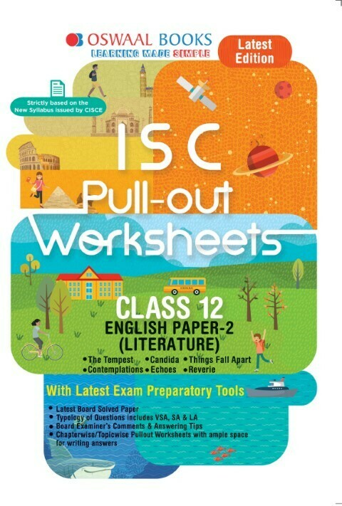 Oswaal ISC Pullout Worksheet Class 11 + 12 English Paper- 2 Literature Book (For 2021 Exam)