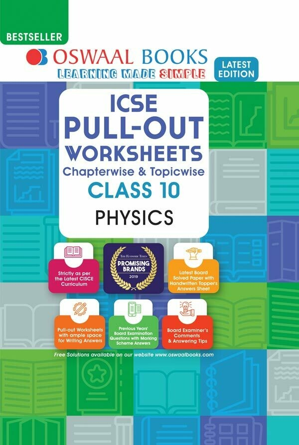 Oswaal ICSE Pullout Worksheets Chapterwise & Topicwise, Class 10, Physics (For 2021 Exam)