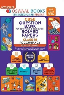 REDUCED SYLLABUS Oswaal CBSE Question Bank Class 12 Accountancy, Chapterwise & Topicwise Solved Papers, (Reduced Syllabus) (For 2021 Exam)
