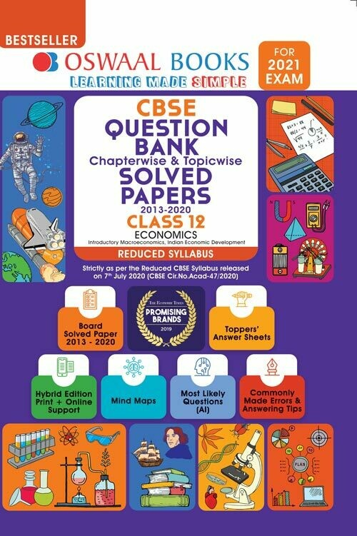 REDUCED SYLLABUS Oswaal CBSE Question Bank Class 12 Economics, Chapterwise & Topicwise Solved Papers, (Reduced Syllabus) (For 2021 Exam)