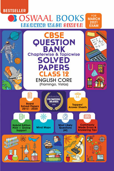 Oswaal CBSE Question Bank Class 12 English Core Book Chapterwise & Topicwise Includes Objective Types & MCQ's (For 2021 Exam)