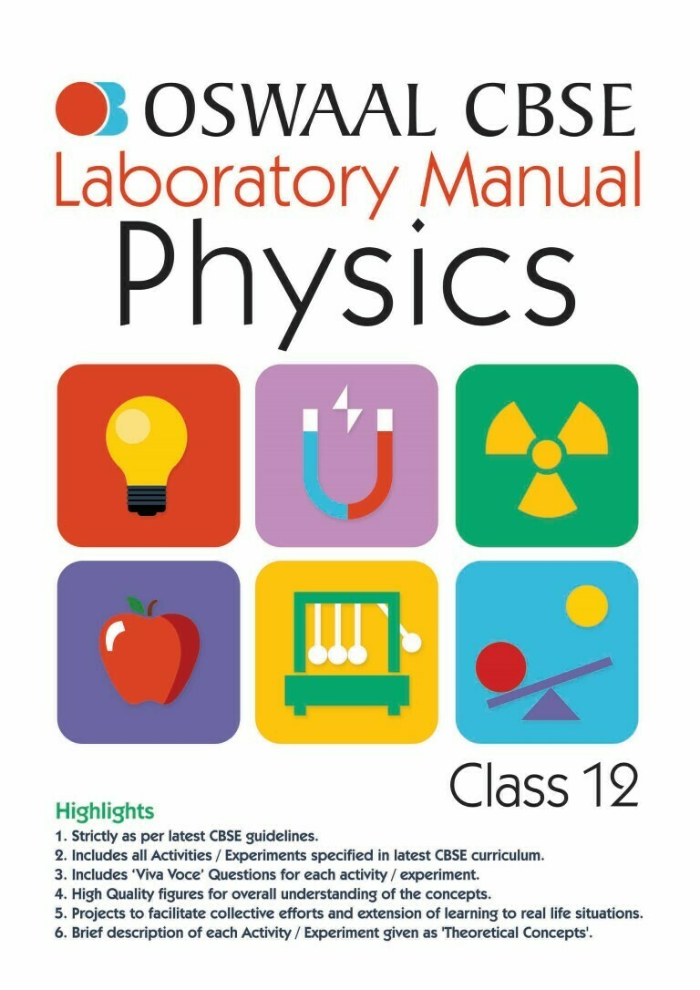 Oswaal CBSE Laboratory Manual Class 12 Physics Book (For 2021 Exam)