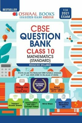 REDUCED SYLLABUS Oswaal CBSE Question Bank Class 10 Mathematics (Standard) (Reduced Syllabus) (For 2021 Exam)