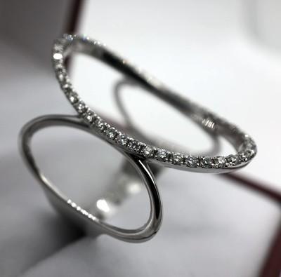 Bague or blanc et diamant