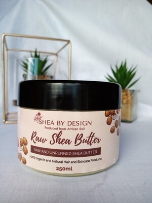 Raw and Unrefined Shea Butter 250ml