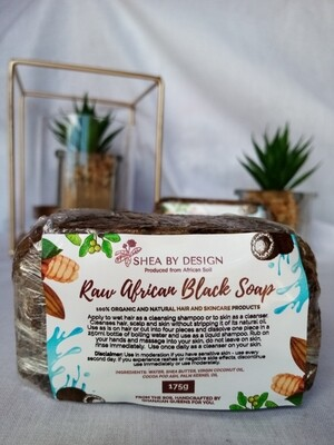 Raw African Black Soap (175g)