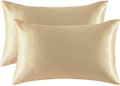 Satin'ista Champagne Satin Pillowcase Set