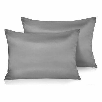 Satin'ista Grey Satin Pillowcase Set