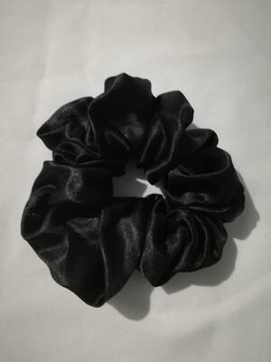 Satin'ista Black Satin Scrunchie