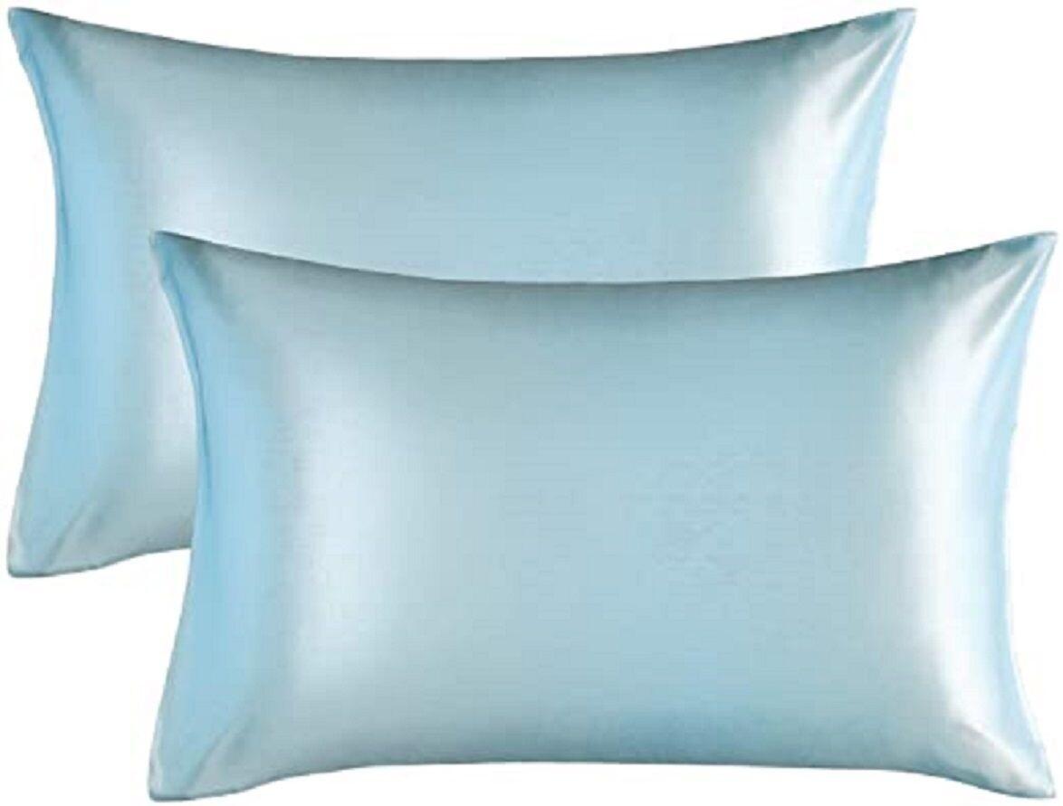 Satin'ista Duck Egg Satin Pillowcase Set