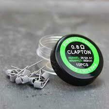 Prebuilt Clapton 0.8Ω Box x 10 pcs.