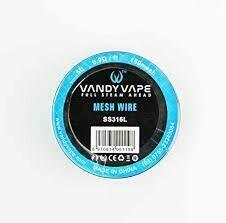 VANDY VAPE Ni80 MESH WIRE (5 ft. aprox. 1.524m.)