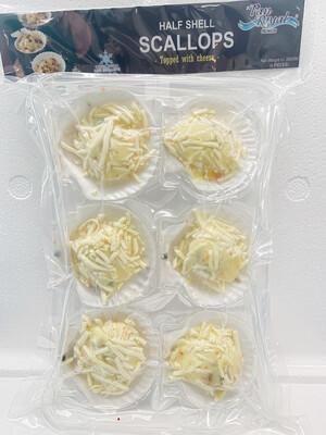 Pan Royal Half Shell Scallops (Cheese)