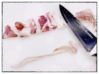 Pan Royal Loligo Squid - Cut