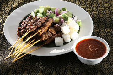 Pan Royal Satay with sauce (20 sticks)