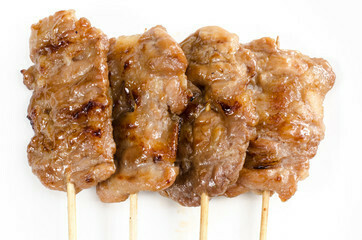Pan Royal Pork Belly Satay Stick with Sauce (10 Sticks)