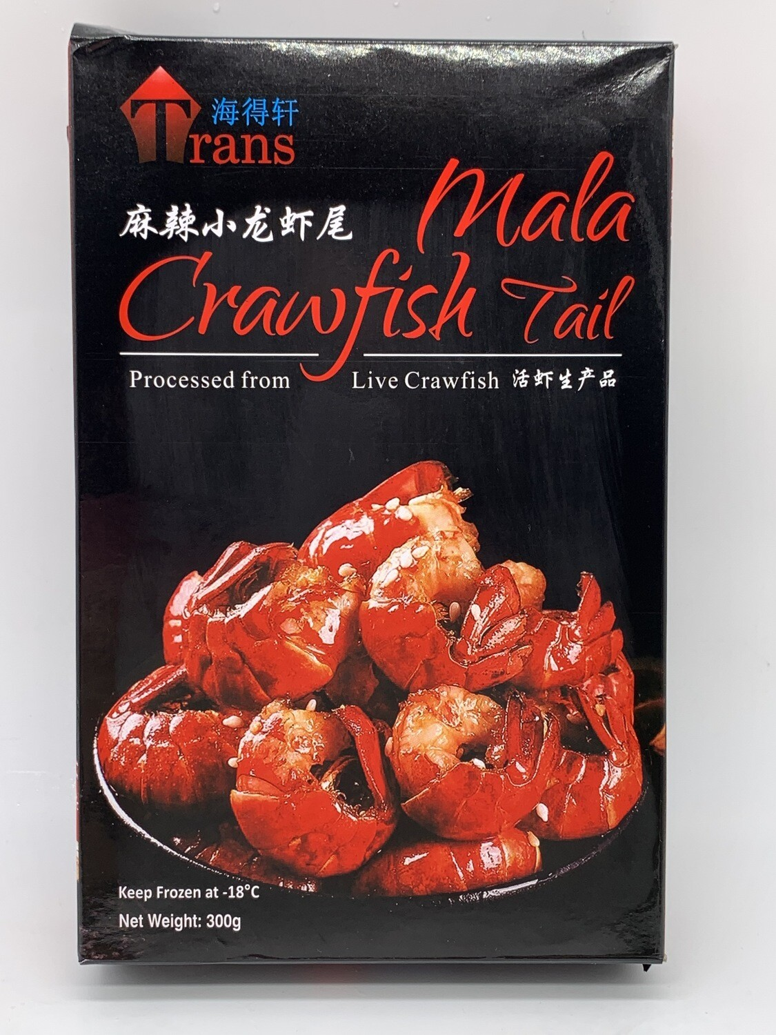 Pan Royal Frozen Cooked Mala Crawfish Tail (麻辣小龙虾尾) 300g