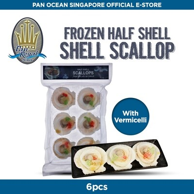 Pan Royal Half Shell Scallops Topped With (Garlic & Vermicelli)